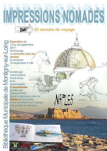 EXPO CARNETS DE VOYAGE naples 2017 J PAPA