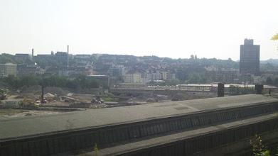 Photo: Die Baustelle der Bahnhofshinterfahrung zwischen ,Funcke & Hueck' und ,Arbeitsamt' (an der derzeit von hier nicht mehr erreichbaren Plessenstraße).