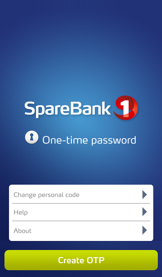 One time password (OTP)- screenshot