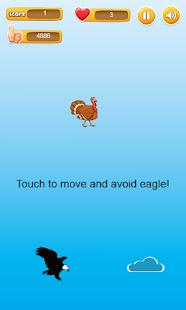 Falling Turkey - avoid eagle - náhled