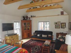 Photo: Family Room with 2 futon sofa beds