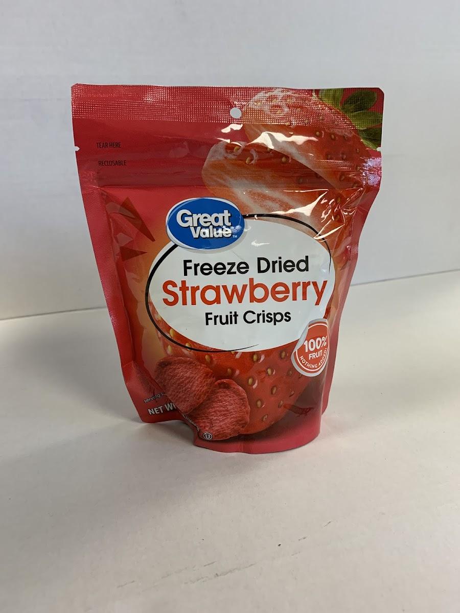 Freeze Dried Strawberry Fruit Crisps