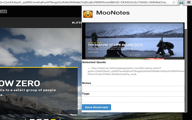 MooNotes (Social Bookmark, Screencapture)