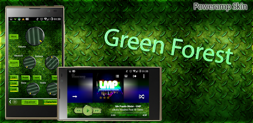 Poweramp Skin Green Forest - Apps on Google Play