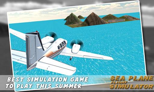極端な水上飛行機の飛行3Dシム