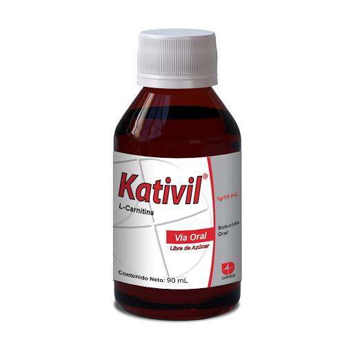 L-Carnitina Kativil 1 g Solución Oral x 90 mL Cofasa 1 g Solución Oral x 90 mL