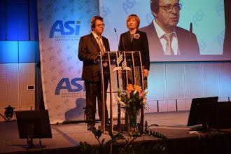 Photo: E. Kudrnová - předsedkyně a D. Cichý - hospodář ASI-CS