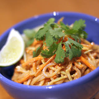 Red Curry Peanut Noodles.
