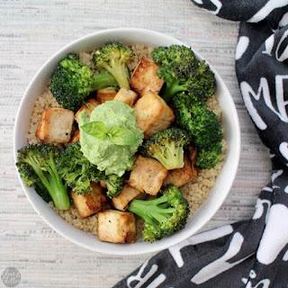 Roasted Tofu Broccoli Bowl with Quinoa