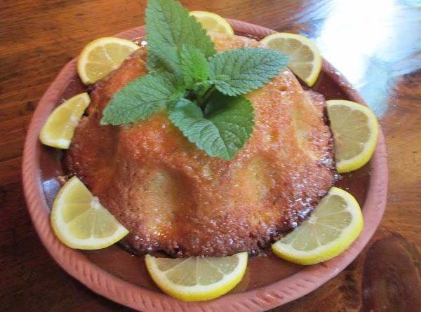 Lemon Balm Cake With Lemon Sauce Recipe