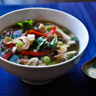 Spicy Ginger Chicken Noodle Soup.