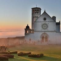 Nebbia al tramonto di