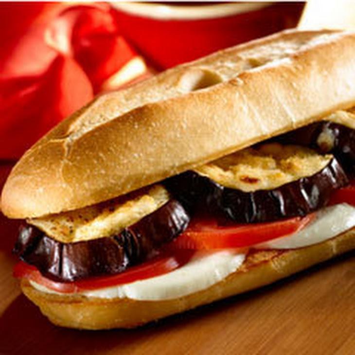 Parmesan-crusted Eggplant Sandwiches