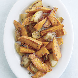 Roasted Sweet Potatoes with Apples and Maple-Sage Butter