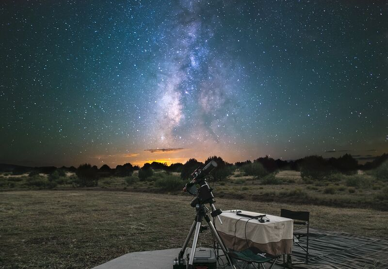 The Cosmic Campground International Dark Sky Sanctuary telescopes