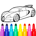 Learn Coloring & Drawing Car Games for Kids icon