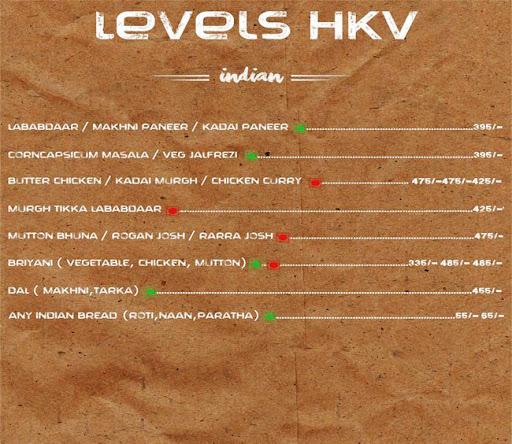 Menu 21 - Levels HKV, Hauz Khas Village, New Delhi