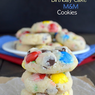 Funfetti Birthday Cake M&M Cookies
