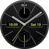 Chrono Carbon Watch Face