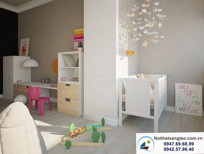 phòng ngủ cho bé sơ sinh