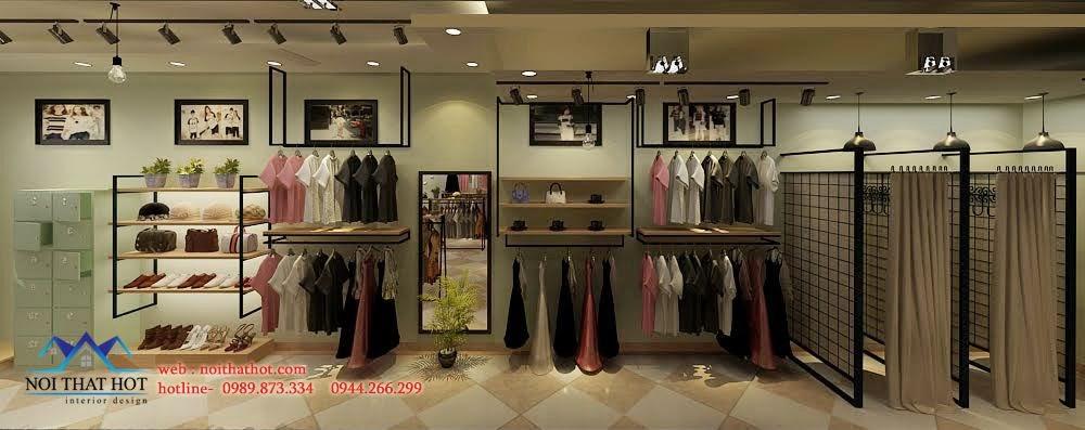 thiết kế shop thời trang đầy đủ tiện ích