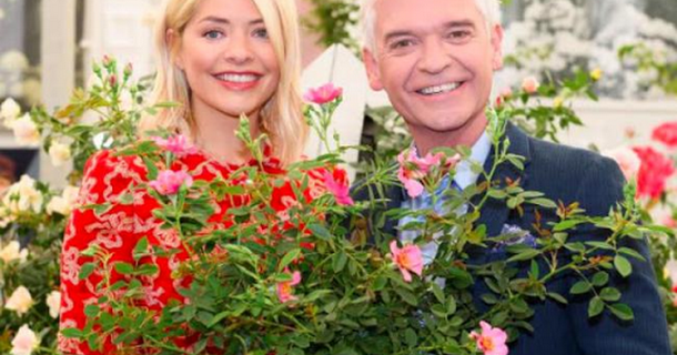 Holly Willoughby and Phillip Schofield unveil This Morning rose