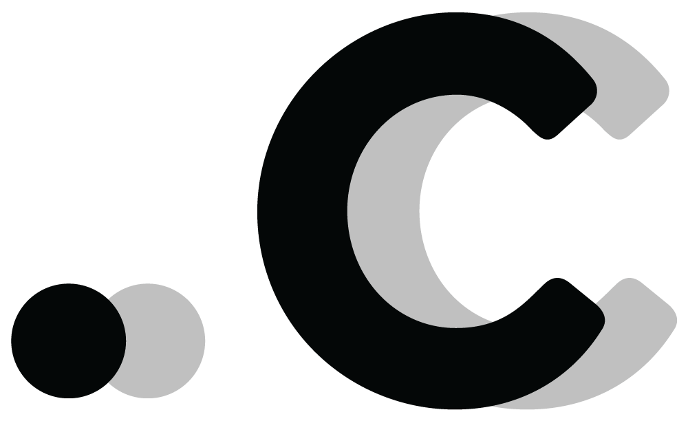 Logo for the .c TLD (Black)