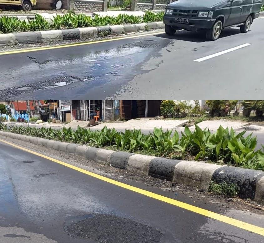 """PPK BBJN Medan Pilih """"Bungkam"""" Saat Ditanya Prihal Penyisipan Lubang Jalan Nasional Kabanjahe – Berastagi"""