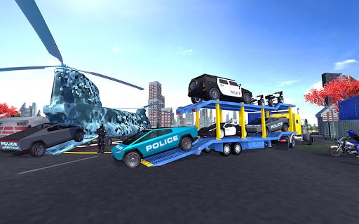 US Police Cyber Truck Car Transporter screenshot 2