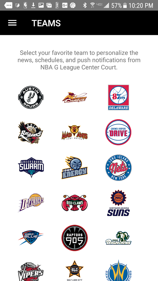 NBA G League- screenshot