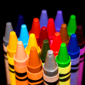 Crayolas by Ted Anderson - Artistic Objects Other Objects ( point, hdr, color, dof, crayons )