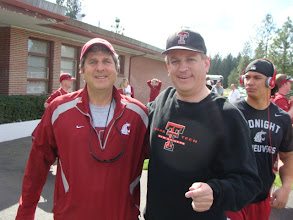 Photo: With Mike Leach, the new head coach of the Washington State Cougars.  Former head coach of the Texas Tech Red Raiders.
