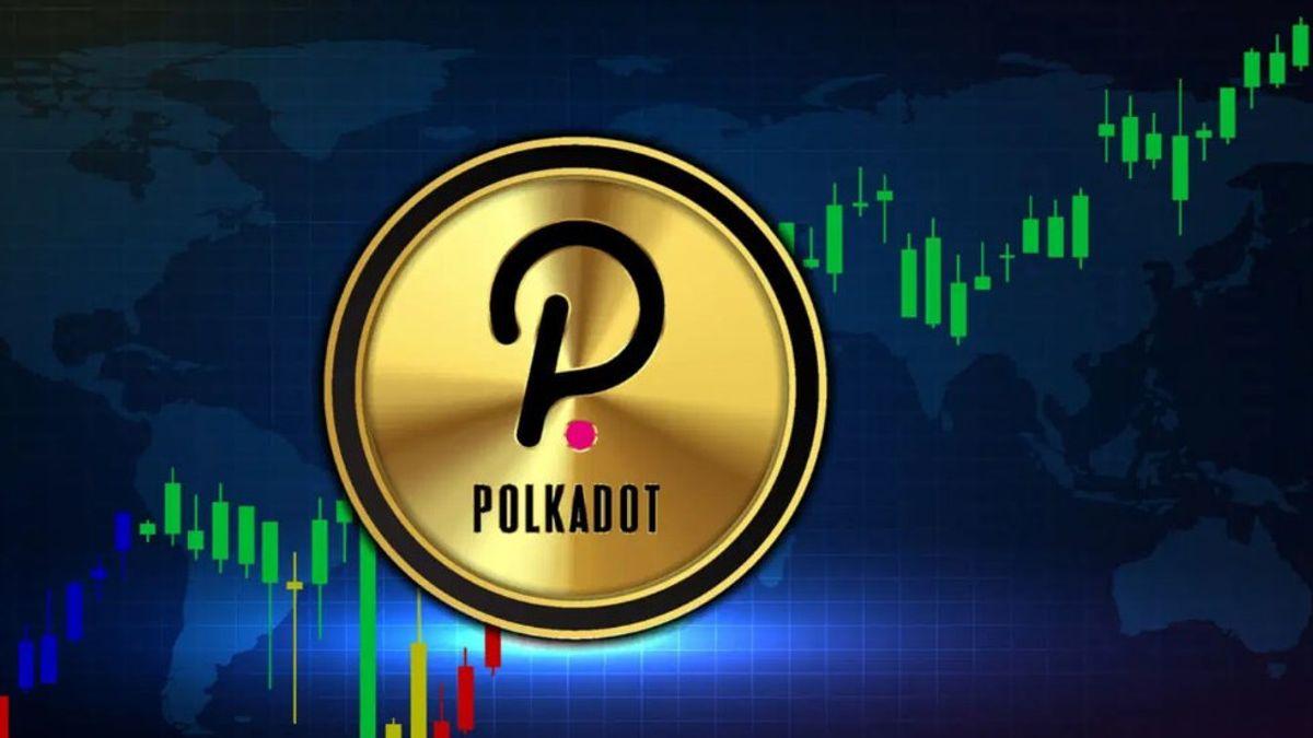 Ilustrasi mata uang kripto Polkadot