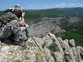 Photo: На скале Иссар над низовьями Чернореченского каньона.
