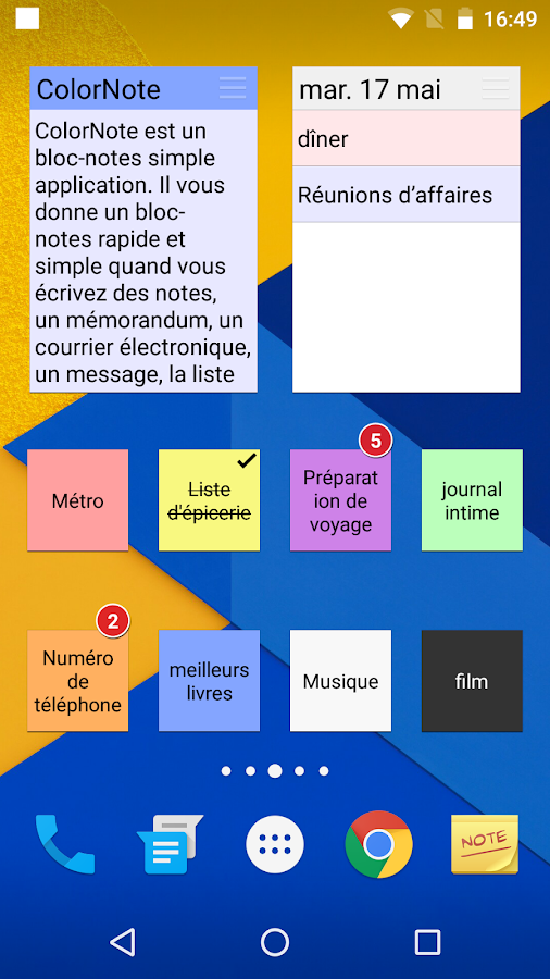 colornote bloc notes notes applications android sur google play. Black Bedroom Furniture Sets. Home Design Ideas