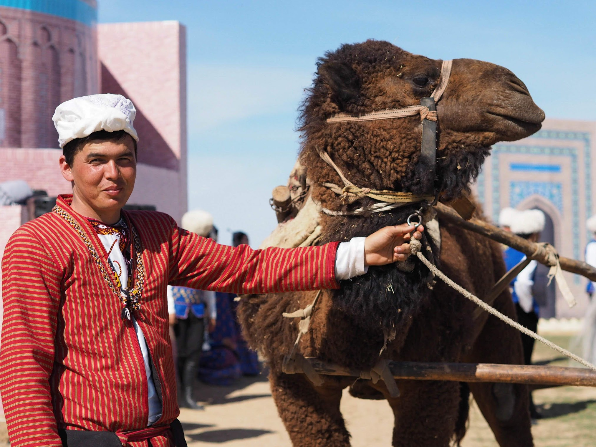 A guy and his camel (also the most boring caption ever).