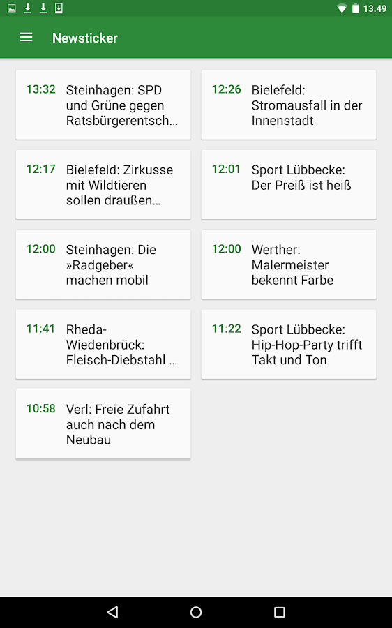 Westfalen-Blatt- screenshot