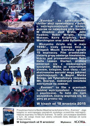 Tył ulotki filmu 'Everest'