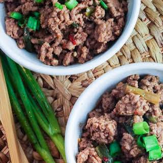 Healthy Mongolian Ground Beef.