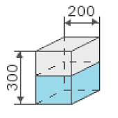 Volume of a rectangular tank