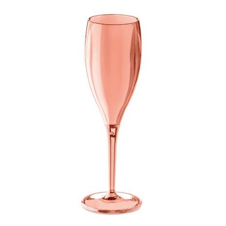 CHEERS NO. 1 Champagneglas 4p, rosa