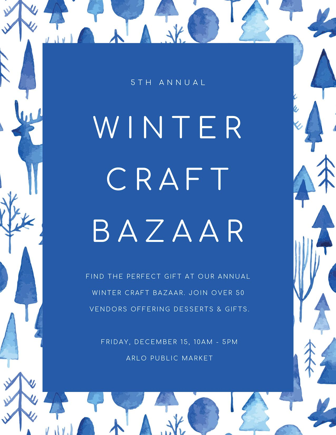 Winter Craft Bazaar - Flyer Template