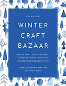 Winter Craft Bazaar - Poster item