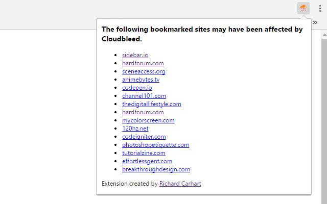 Cloudbleed Bookmark Checker