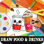 How to Draw Drinks and foods