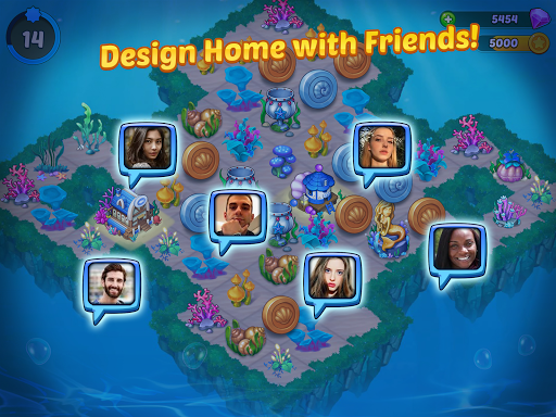 Merge Mermaids-design home&create magic fish life. 1.0.2 screenshots 15
