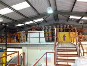 Photo: cask store on mezzanine floor