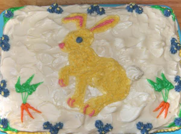 Carrot Cake Bunnies Would Kill For! You Think Bunnies Are Soft, Sweet And Fuzzy, Well Not When They Get Around This Cake! 5 Star Or So My Friends Think!