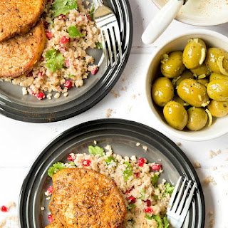 Spiced Pork Medallions With Pomegranate Jewelled Cauliflower 'couscous'.