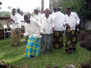 Photo: Lingombi dance group, Chief Endeley's Xmas party 2003, Buea